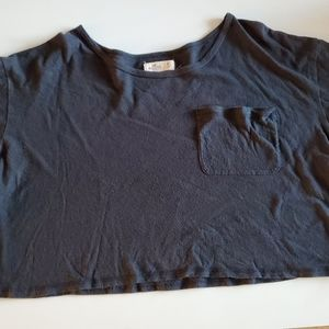 Hollister Black Cropped Pocket Tee